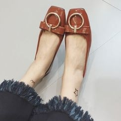 Crystella - Buckled Bow Flats