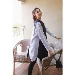 Momnuri - Maternity Stripe-Back T-Shirt Dress