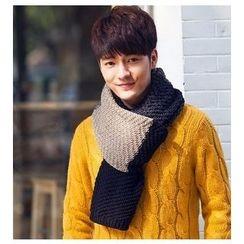 Doonie - Color Block Knit Scarf