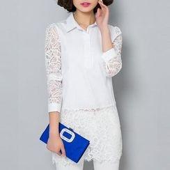 Isadora - Lace Panel Shirt