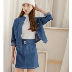 Everies - Set: Denim Jacket + A-line Skirt