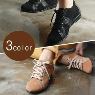 Reneve - Two-Tone Lace-Up Flats