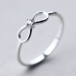 A'ROCH - 925 Sterling Silver Bow Sterling Silver Ring