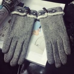 TAAK - Fleece-Trim Toggle Gloves