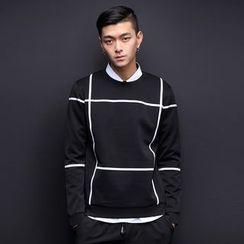 Alvicio - Check Neoprene Sweatshirt