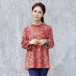 Diosa - Long-Sleeve Floral Blouse