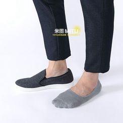 MITU - 毛圈底純棉硅膠隱形淺口船襪