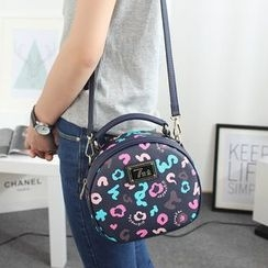 Princess Carousel - Printed Round Shoulder Bag
