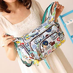 Canvas Love - Printed Canvas Shoulder Bag