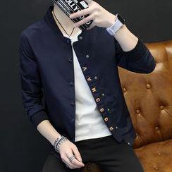 Alvicio - Letter Stand-collar Jacket
