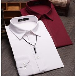 Consto - Plain Long-Sleeve Shirt
