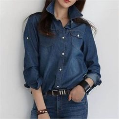 CHICFOX - Washed Denim Shirt