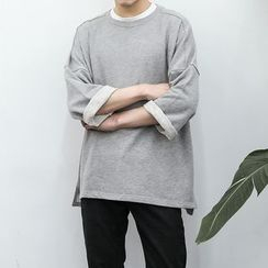 Soulcity - 3/4-Sleeve Drop-shoulder Sweatshirt