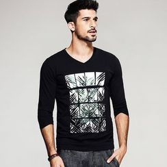 Quincy King - Printed Long-Sleeve T-Shirt