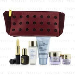 Estee Lauder - Travel Set: Perfectly Clean 30ml + Micro Essence 30ml + Advanced Time Zone 15ml + Eye Cream 5ml + ANR II 7ml + Lip Conditioner + Bag