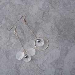 FROME - Petal Non-Matching Drop Earrings