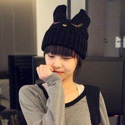 Momiton - 貓耳朵造型針織帽