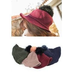 REDOPIN - Faux-Fur Knit Hat