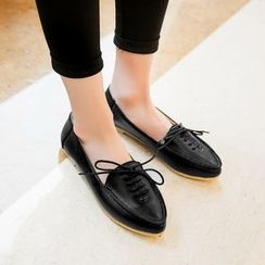 Pangmama - Lace-Up Loafers