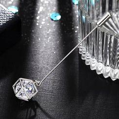 STYLEJING - Crystal Drop Pin Brooch