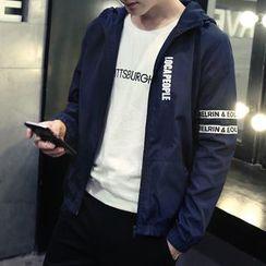 Maykor Jane - Lettering Hooded Jacket / Bomber Jacket