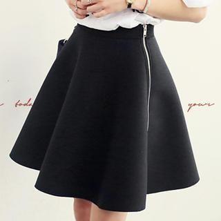 NANING9 - Side-Zip A-Line Skirt
