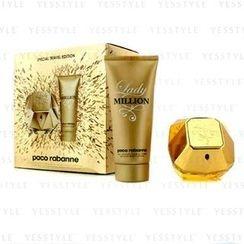 Paco Rabanne - Lady Million Special Travel Edition Coffret: Eau De Parfum Spray 80ml/2.7oz + Sensual Body Lotion 100ml/3.4oz