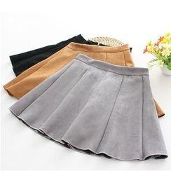 Citree - Plain A-Line Mini Skirt