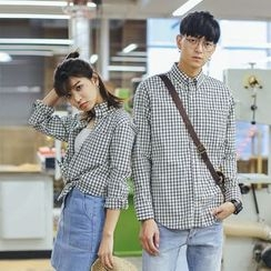 Simpair - Couple Matching Check Shirt