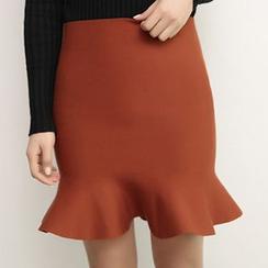 Hazie - Ruffle Knit Skirt