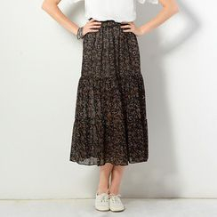 YesStyle Z - Floral Maxi Skirt