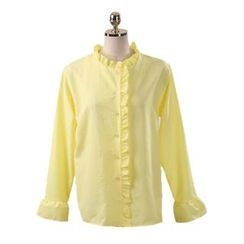 Chlo.D.Manon - Collarless Frill-Trim Blouse