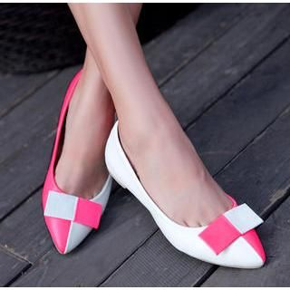 77Queen - Color-Block Pointy-Toe Flats