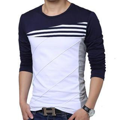 Gurun Vani - Long-Sleeve Color-Block T-Shirt