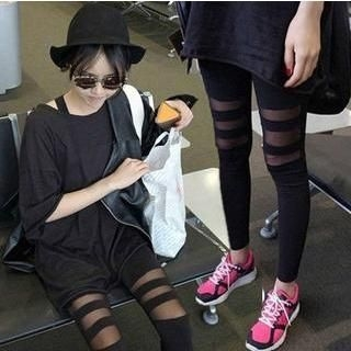 QZ Lady - Mesh Panel Leggings