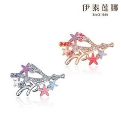 Italina - Swarovski Elements Coral Star Brooch