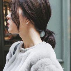 mimi&didi - Mini Hoop Silver Stud Earrings