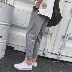 JUN.LEE - Plain Tapered Pants