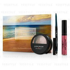 Laura Geller - Get Your Glow On (A Full Bronzed Beauty Kit): 1x Blush n Glow, 1x I Care Waterproof Eyeliner, 1x Color Drenched Lip Gloss