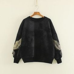 Mushi - Bird Embroidered Sequined Pullover