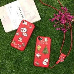 Stardigi - 圣诞手机套连颈带 - 苹果 iPhone 6 / 6 Plus / 7 / 7 Plus