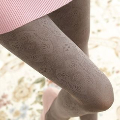 Cappuccino - Jacquard Tights
