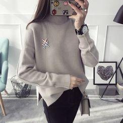 Qimi - High Neck Sweater