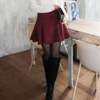 2fb - Plaid A-Line Skirt