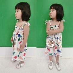 Happy Lala - Kids Sleeveless Printed Dress