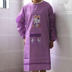 Evora - 小兔深浅格纹围裙