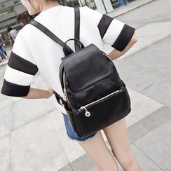 Lamia - Faux-Leather Backpack