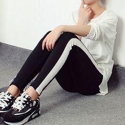 Corella - Contrast Trim Leggings