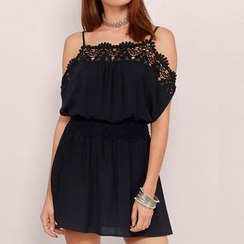 Everose - Open-Back Lace-Trim Sundress