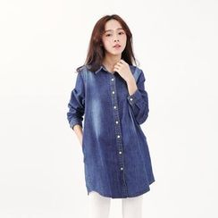 Tokyo Fashion - Washed Long Denim Shirt